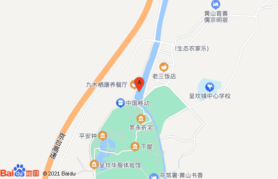 黄山旅游景点-呈坎交通地图