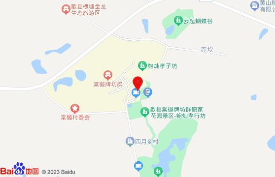 黄山旅游景点-棠樾牌坊群交通地图