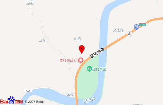 黄山旅游景点-雄村交通地图