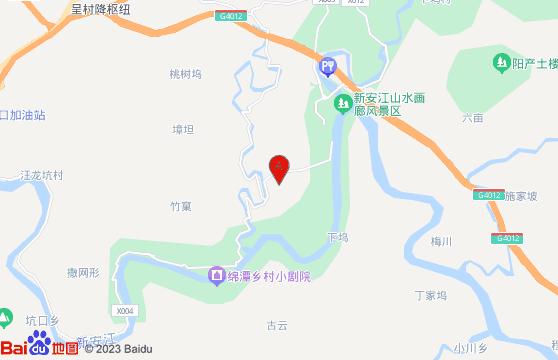 新安江山水畫廊風景區地圖