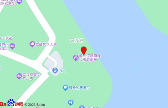 黃山旅游景點-新安江山水畫廊交通地圖