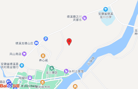 绩溪龙川景区地图
