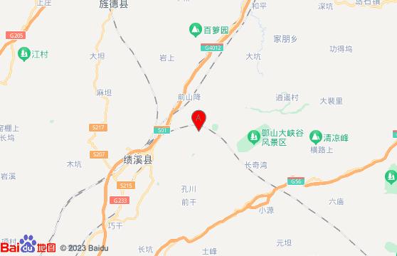 黄山旅游景点-障山大峡谷交通地图