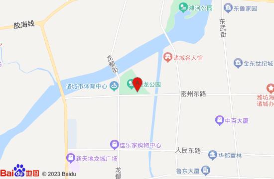 諸城恐龍博物館地圖