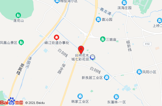 花木城七彩花海地圖