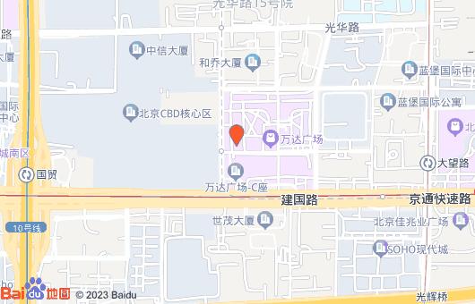 京仪大厦(万达广场9号楼)地图位置标注