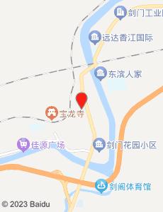 剑阁旅游地图
