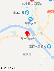 盐亭旅游地图