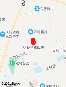 达拉特旅游地图