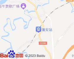 蓬安电子地图